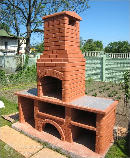 Дачный камин на улице